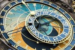 中世纪天文学时钟在布拉格 库存照片