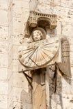 中世纪太阳时钟 免版税库存照片