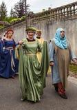 中世纪夫妇 免版税库存照片