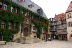中世纪奎德林堡 免版税库存图片