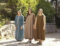 中世纪女孩 免版税库存图片