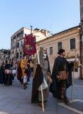 中世纪字符游行  免版税图库摄影