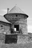 中世纪宫殿的好的幻想重建在村庄Racos,特兰西瓦尼亚 库存图片