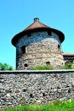 中世纪宫殿的幻想重建在村庄Racos,特兰西瓦尼亚 库存照片
