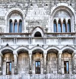 中世纪宫殿背景 免版税图库摄影