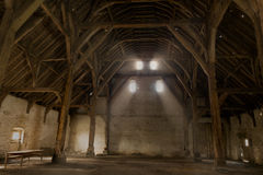 中世纪富兰德的储放什一税农产品的仓库 库存照片