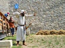 中世纪射手战士 免版税库存照片
