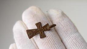 中世纪小耶稣受难象十字架 股票视频