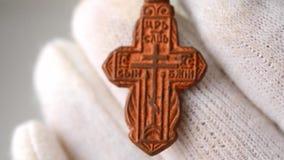 中世纪小耶稣受难象十字架 股票录像