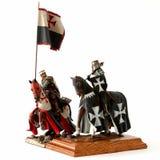 中世纪小雕象的骑士 免版税库存照片