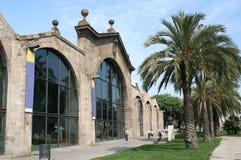 中世纪巴塞罗那的造船厂 免版税库存照片