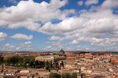 中世纪市全景视图托莱多,西班牙 库存照片