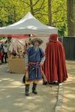 中世纪市场庆祝在五十周年纪念公园Parc 库存图片