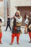 中世纪市场节日在西班牙村庄卡隆赫 免版税库存图片