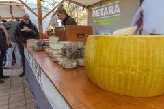 中世纪市场节日在西班牙村庄卡隆赫 免版税图库摄影