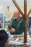 中世纪市场节日在西班牙村庄卡隆赫 库存图片