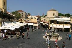 中世纪市罗得岛,老镇 免版税图库摄影