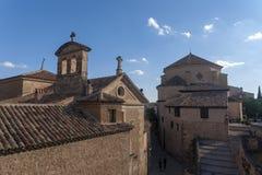 中世纪市西班牙,卡斯蒂利亚la Mancha的自治社区的昆卡省 免版税库存照片