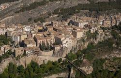 中世纪市西班牙,卡斯蒂利亚la Mancha的自治社区的昆卡省 库存照片
