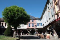 中世纪市Mirepoix 免版税库存图片
