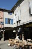 中世纪市Mirepoix 库存照片