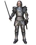 中世纪年长的骑士 图库摄影