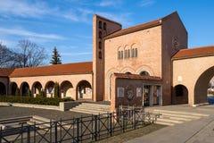 中世纪庭院废墟在Szekesfehervar,匈牙利 免版税库存照片