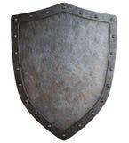 中世纪徽章保护3d被隔绝的例证 库存图片