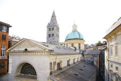 中世纪意大利城市热那亚 免版税库存图片