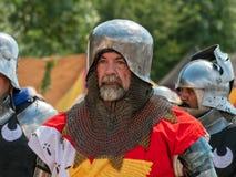 中世纪战士画象, Tewkesbury中世纪节日,英国 免版税库存图片