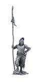 中世纪战士的罐子雕象 图库摄影