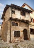 中世纪房子在奇维达莱德尔夫留利 图库摄影