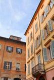 中世纪房子在摩德纳,意大利 图库摄影