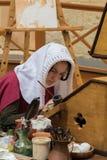 中世纪抄写员 免版税库存图片