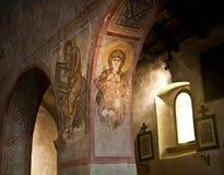 中世纪教会内部,意大利 库存图片