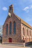 中世纪教会在Aduard历史村庄  免版税库存照片