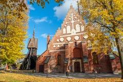 中世纪教会在Söderköping,瑞典 免版税库存照片