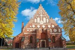 中世纪教会在Söderköping,瑞典 库存图片