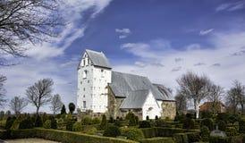 中世纪教会在Vester Nebel, Esbjerg,丹麦 免版税库存图片