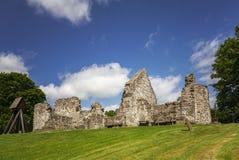 中世纪教会废墟 库存照片