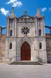 中世纪教会的门面 免版税库存照片