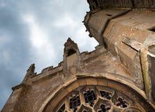 中世纪教会的黑暗 免版税库存图片
