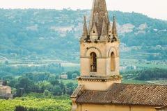 中世纪教区教堂在博尼约村庄,普罗旺斯,法国 库存图片