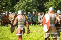 中世纪文化国际历史节日  免版税库存照片