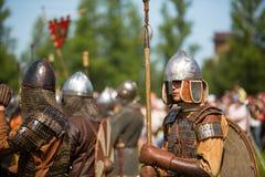 中世纪文化Ladogafest-2013国际历史节日  库存照片