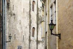 中世纪时间大厦门面 免版税库存图片