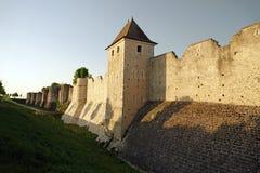 中世纪普罗万城市墙壁在法国 免版税库存图片
