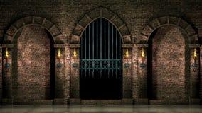中世纪曲拱和门 影视素材