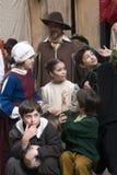 中世纪服装当事人 免版税库存照片