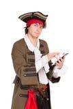 中世纪服装的年轻人 免版税图库摄影